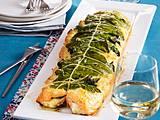 Lachs aus dem Ofen mit Spinat und Ricotta-Mandel-Creme Rezept