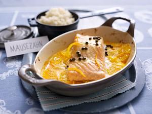 Lachs in Orangensoße Rezept