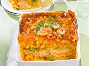 Lachs-Lasagne mit Krebsbutter-Bechamel Rezept