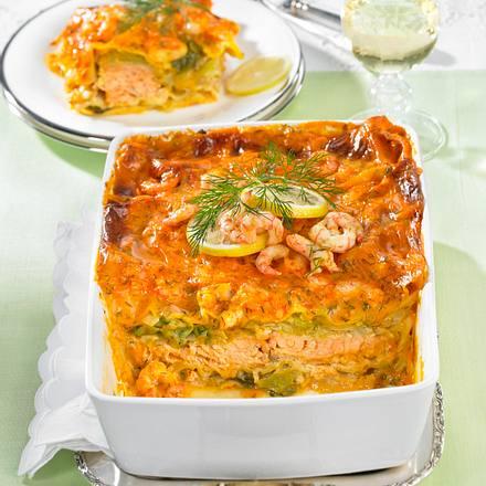 Lachs-Lasagne mit Spitzkohl Rezept