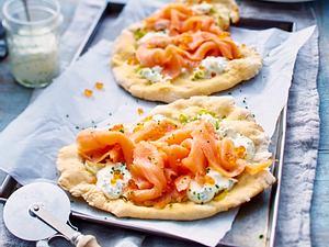 Lachs-Lauch-Pizza Rezept
