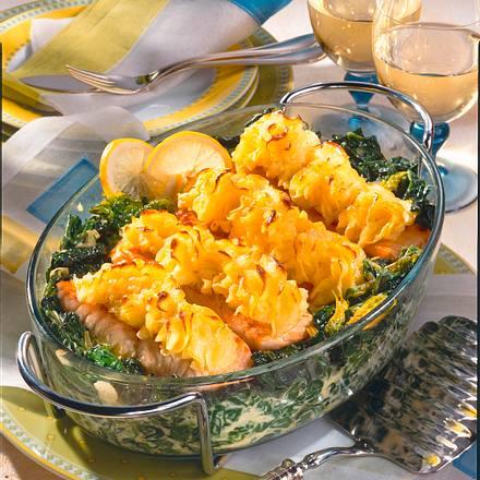Lachs mit Meerrettich-Püree-Kruste Rezept