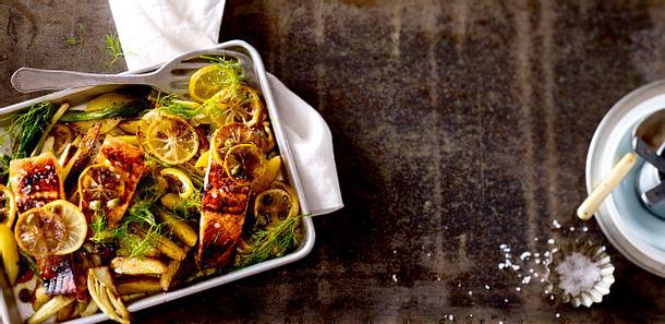 Lachs mit Zitronen-Kartoffeln Rezept