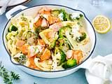 Lachs-Nudelpfanne mit Brokkoli Rezept