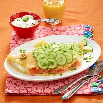 Lachs-Pfannkuchen Rezept