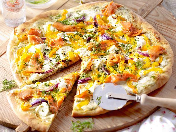 Lachs-Pizza Rezept