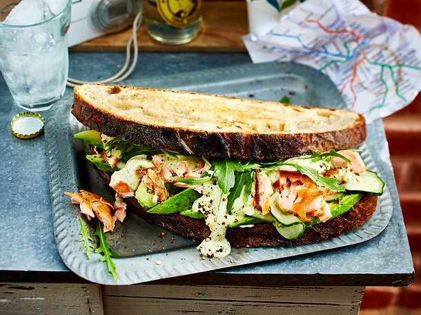 Lachs Sandwich Rezept