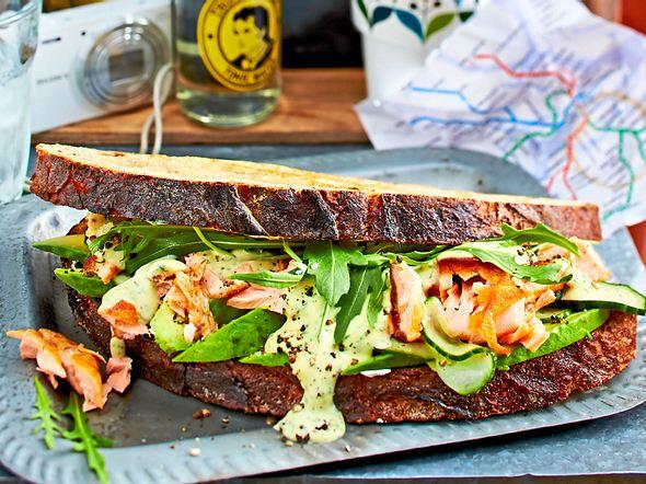 """Lachs-Sandwich """"Auf die Schnelle"""" Rezept"""