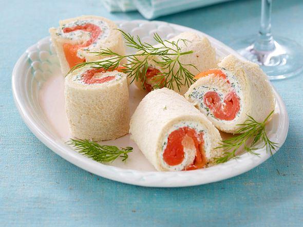 Lachs-Sandwichröllchen Rezept