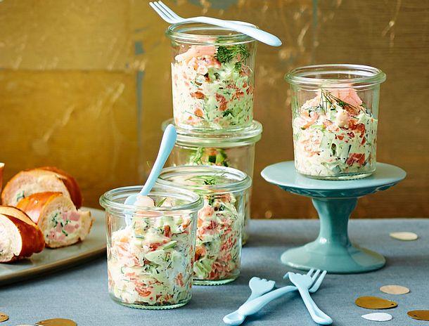 Lachs-Shrimps-Tatar Rezept