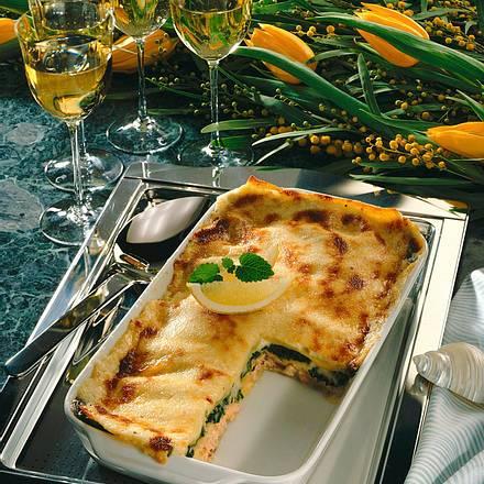 Lachs-Spinat-Lasagne Rezept