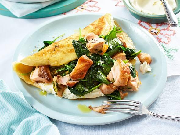 Lachs-Spinat-Pfannkuchen Rezept