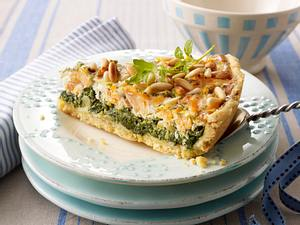 Lachs-Spinat Quiche mit buttrigem Mürberteig Rezept