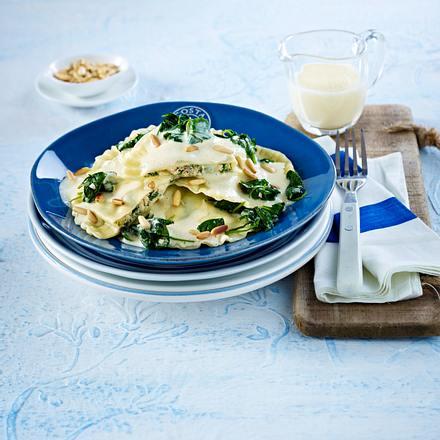 Lachs-Spinat-Ravioli Rezept