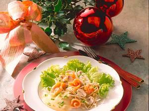 Lachs-Sprossensalat mit Kartoffel-Vinaigrette Rezept