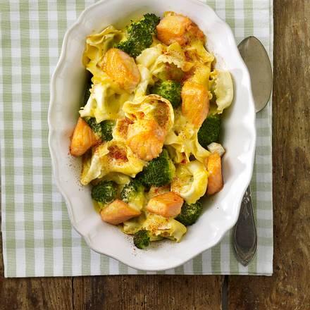 Lachs-Tortellini-Gratin Rezept