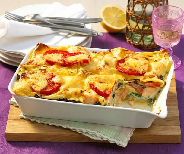 Lachs-Wirsing-Lasagne Rezept