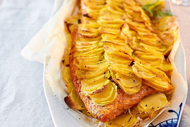 Lachsfilet im Kartoffelmantel Rezept