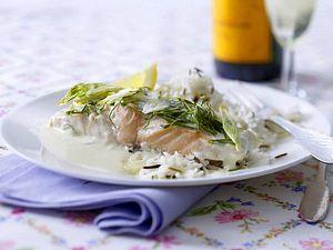 Lachsfilet in Champagner-Sahne-Soße Rezept