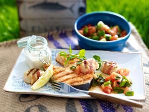 Lachskotelett mit Tomatensalat Rezept