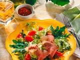 Lamm auf grünem Salat mit Kartoffel-Vinaigrette Rezept
