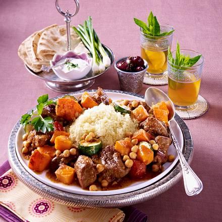 Lamm-Couscous mit Kürbisgemüse Rezept