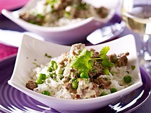 Lamm-Curry mit Erbsen Rezept