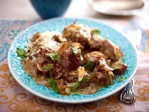 Lammcurry mit Mandeln Rezept