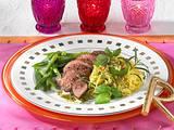 Lammfilet mit grünen Bohnen Rezept