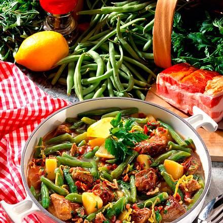 Lammgulasch mit Bohnen und Kartoffeln Rezept