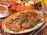 Lammkeule mit Tomaten und Bohnen Rezept