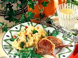Lammkotelett mit Kartoffel-Püree und Rauke Rezept