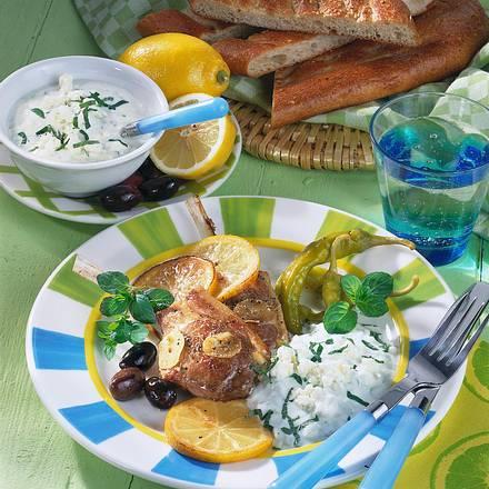 Lammkoteletts mit Joghurt-Minz-Soße Rezept