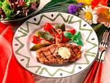 Lammkoteletts mit mariniertem Paprika Rezept
