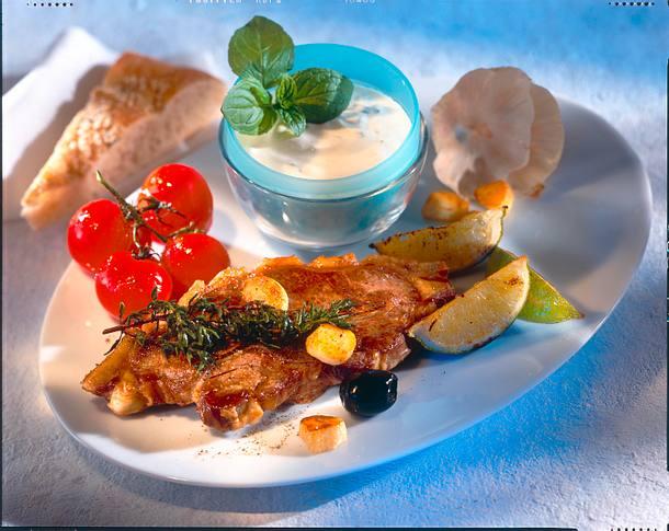 Lammkoteletts mit Zitronen-Joghurt-Soße Rezept