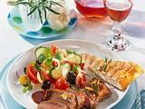 Lammlachse mit Salat Rezept