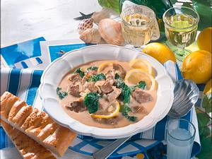 Lammragout mit Zitronensauce Rezept