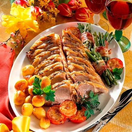 Lammrücken mit Bohnen & Tomaten Rezept