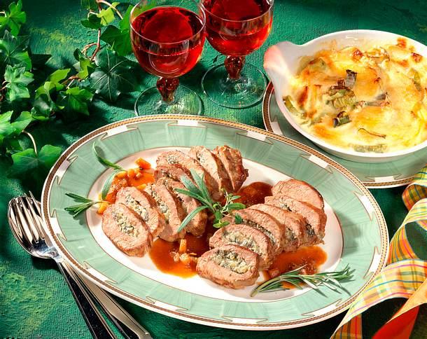 Lammrücken mit Käsefüllung Rezept