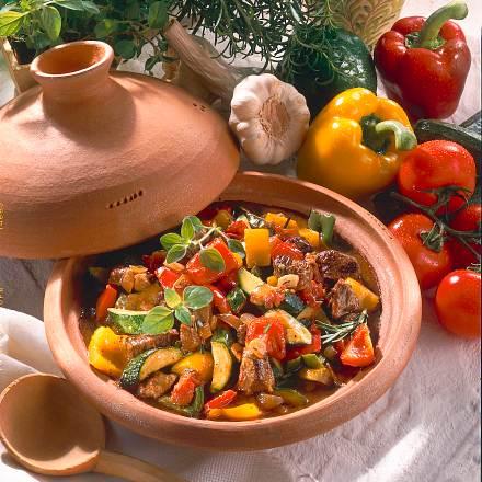 Lammtopf mit buntem Gemüse Rezept
