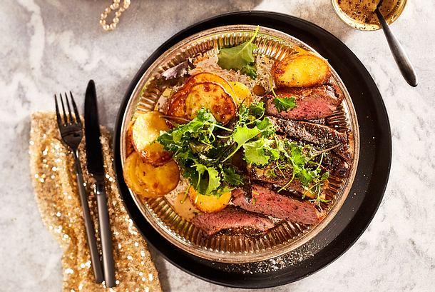 L'amour de Paris Steak au poivre Rezept