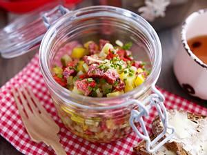 Landjäger-Salat Rezept