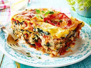 """Lasagne mit """"Blumenkohlhack"""" und Spinat Rezept"""