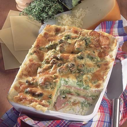 Lasagne mit Broccoli und Schinken Rezept