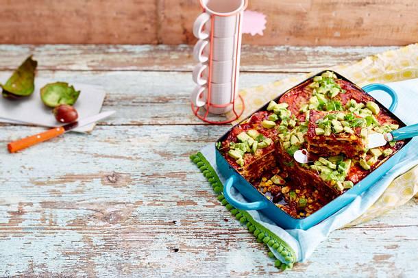 Lasagne mit Enchiladas Rezept