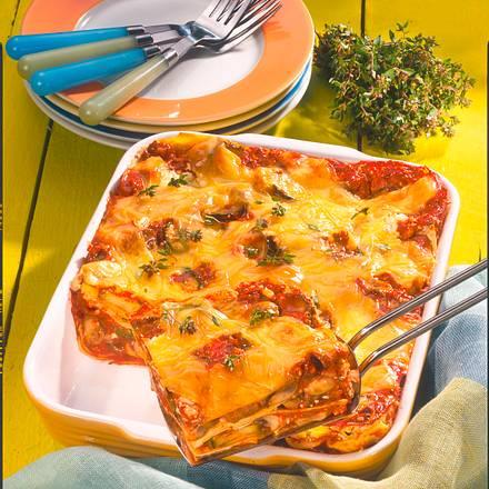 Lasagne mit Hüttenkäse Rezept