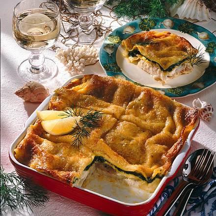 Lasagne mit Rotbarsch und Spinat Rezept