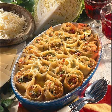 Lasagne-Schinken-Schnecken Rezept