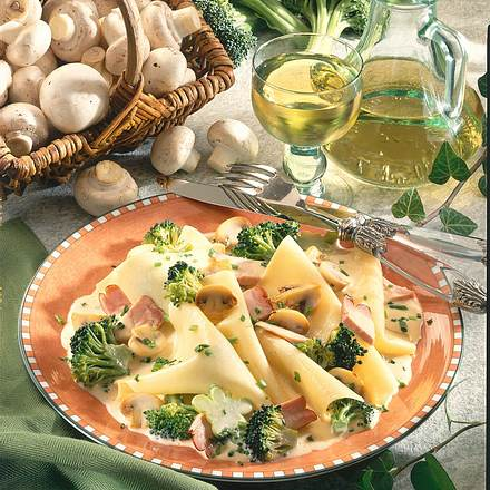 Lasagnenudeln mit Pilzsoße Rezept