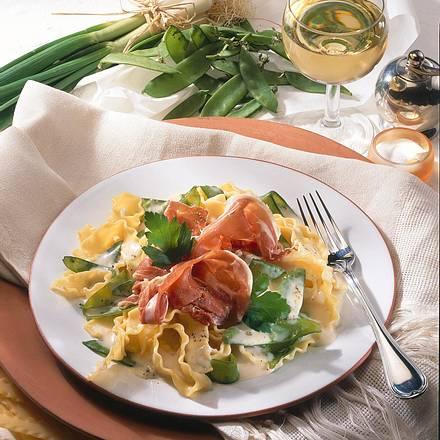 Lasagnetten in Mascarponesoße mit Parmaschinken Rezept
